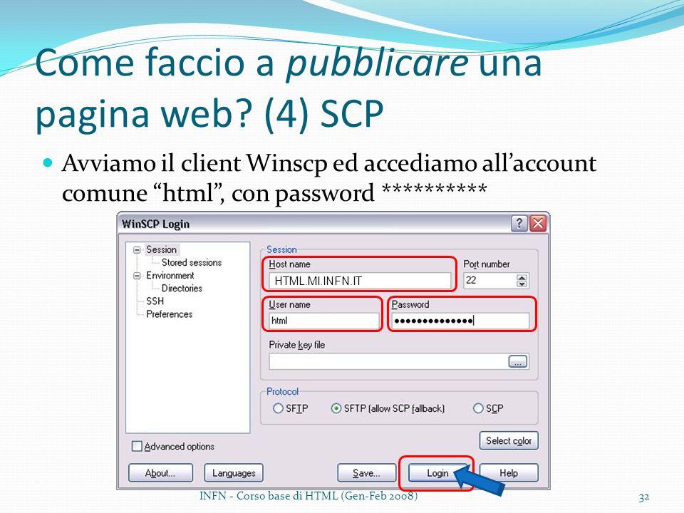 Come faccio a pubblicare una pagina web (4) SCP