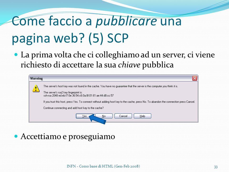 Come faccio a pubblicare una pagina web (5) SCP