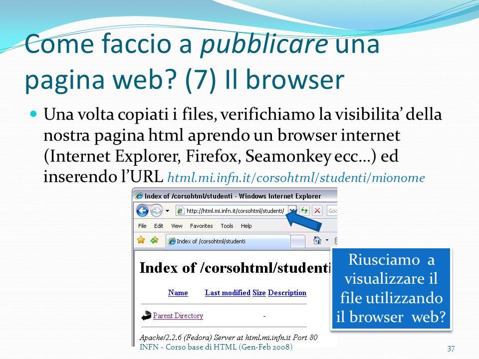 Come faccio a pubblicare una pagina web (7) Il browser