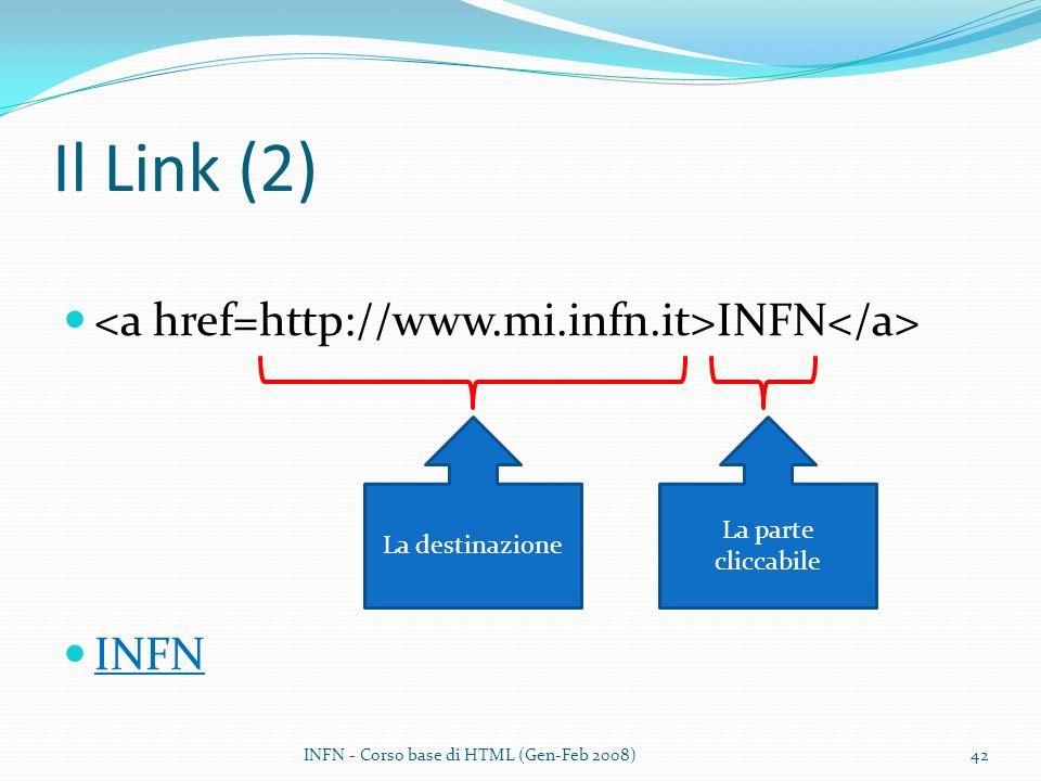 Il Link (2) <a href=http://www.mi.infn.it>INFN</a> INFN