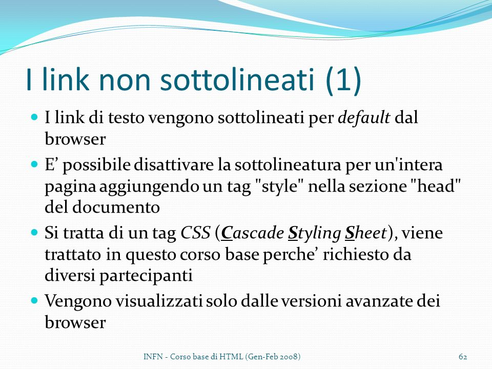 I link non sottolineati (1)