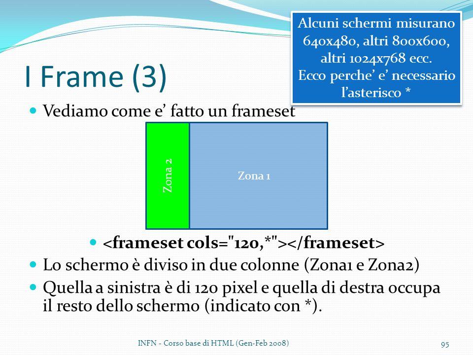 <frameset cols= 120,* ></frameset>