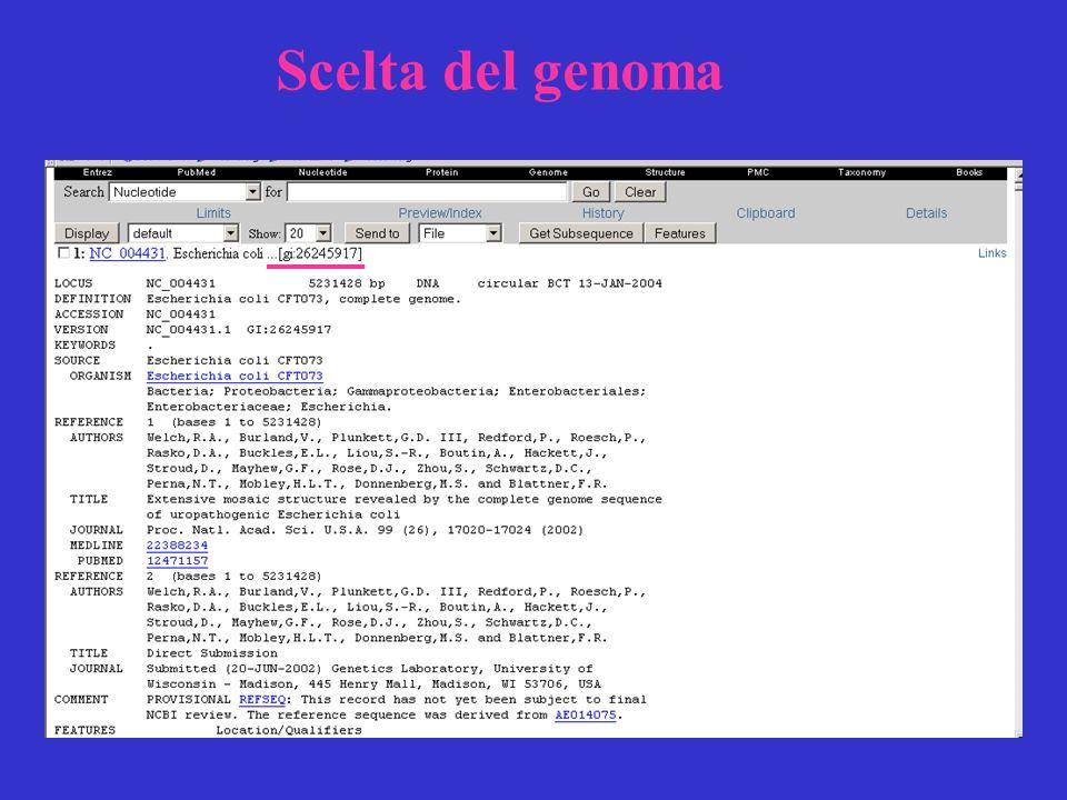 Scelta del genoma
