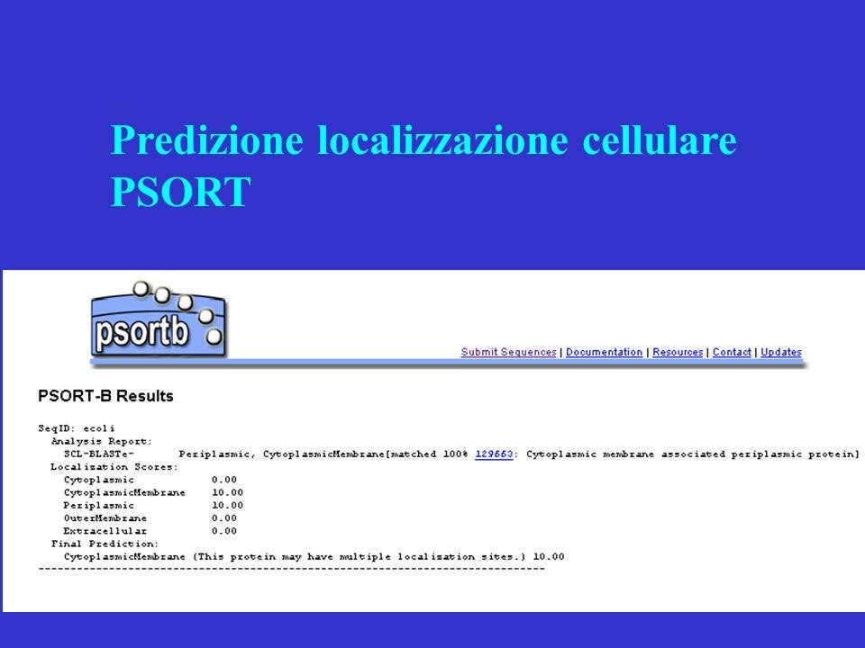 Predizione localizzazione cellulare