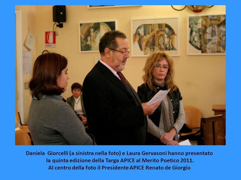 la quinta edizione della Targa APICE al Merito Poetico 2011.