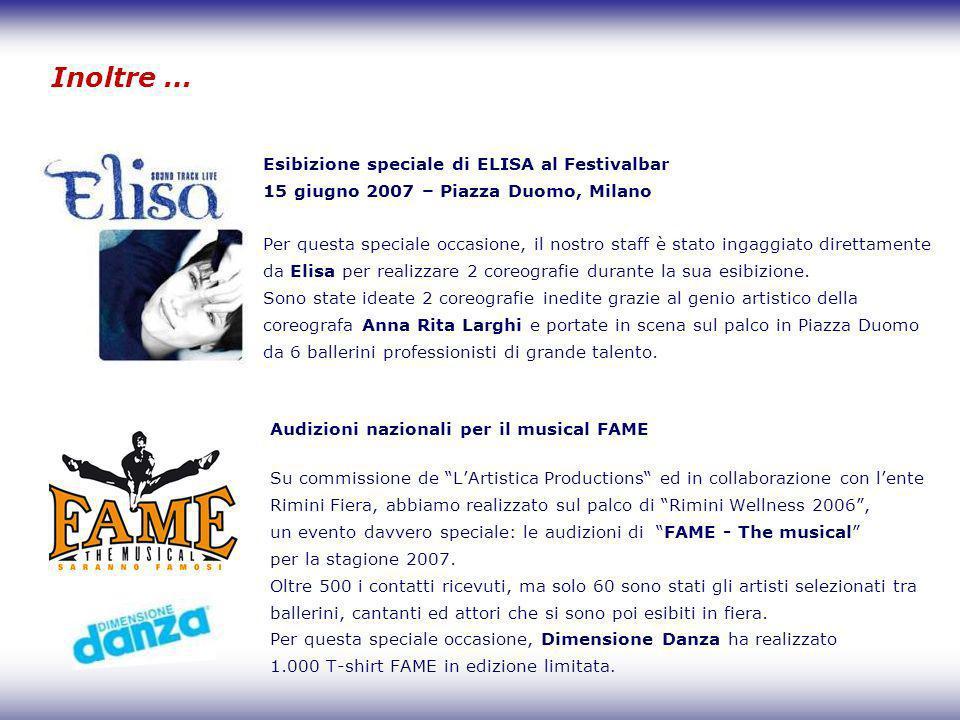 Inoltre … Esibizione speciale di ELISA al Festivalbar