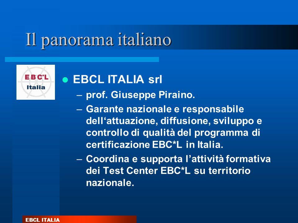 Il panorama italiano EBCL ITALIA srl prof. Giuseppe Piraino.