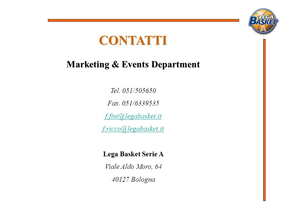 Marketing & Events Department