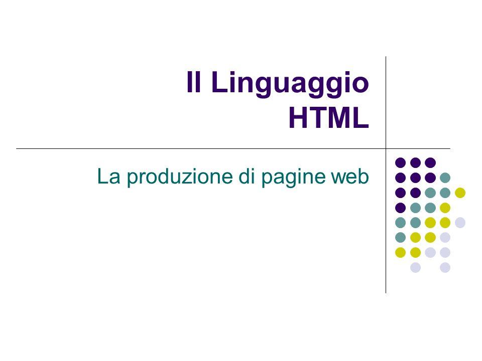 La produzione di pagine web