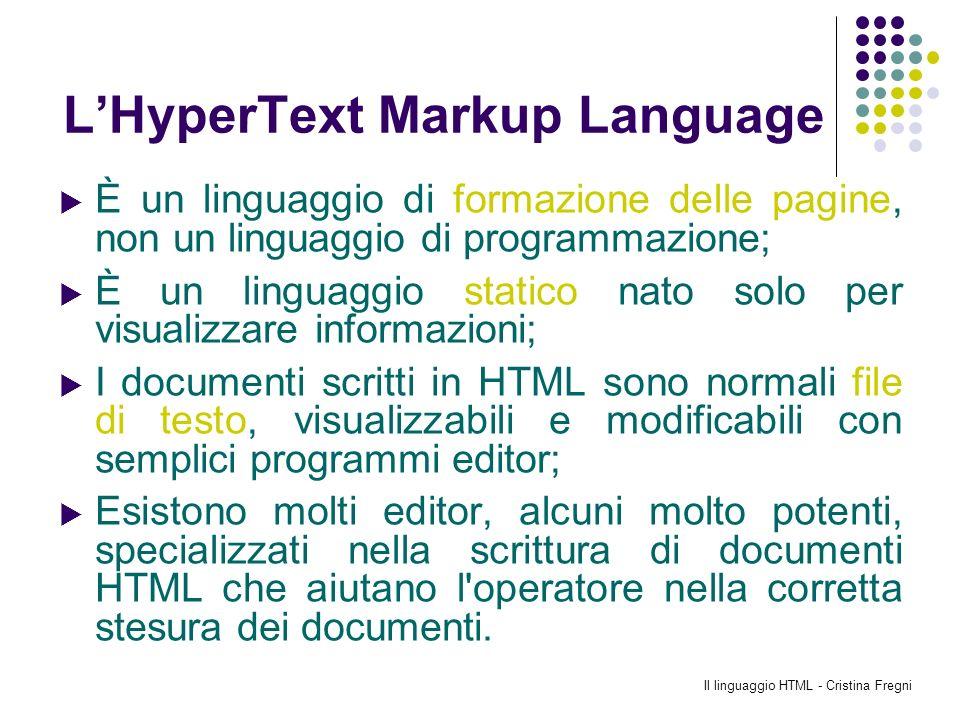 L'HyperText Markup Language