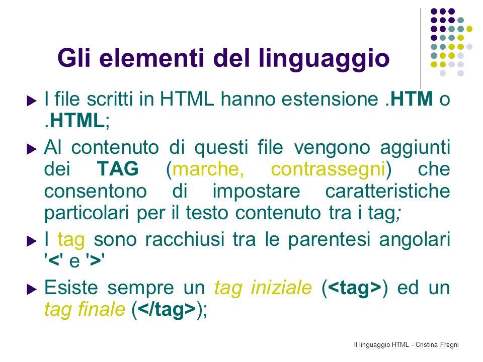 Gli elementi del linguaggio