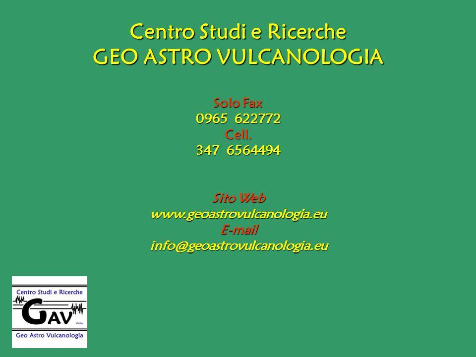 Centro Studi e Ricerche GEO ASTRO VULCANOLOGIA
