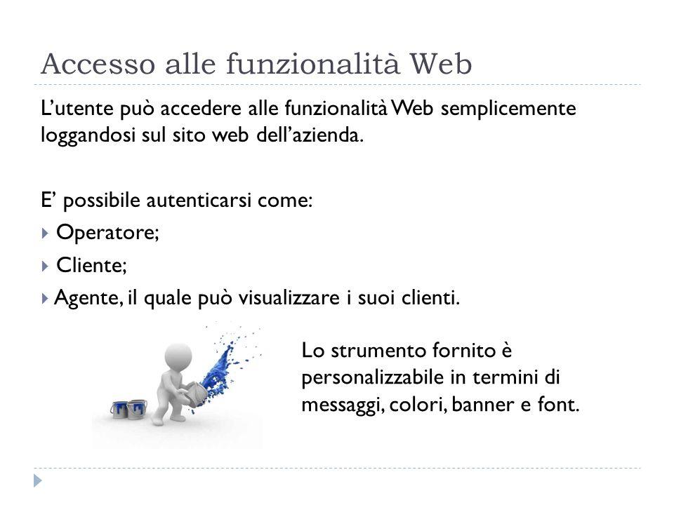 Accesso alle funzionalità Web