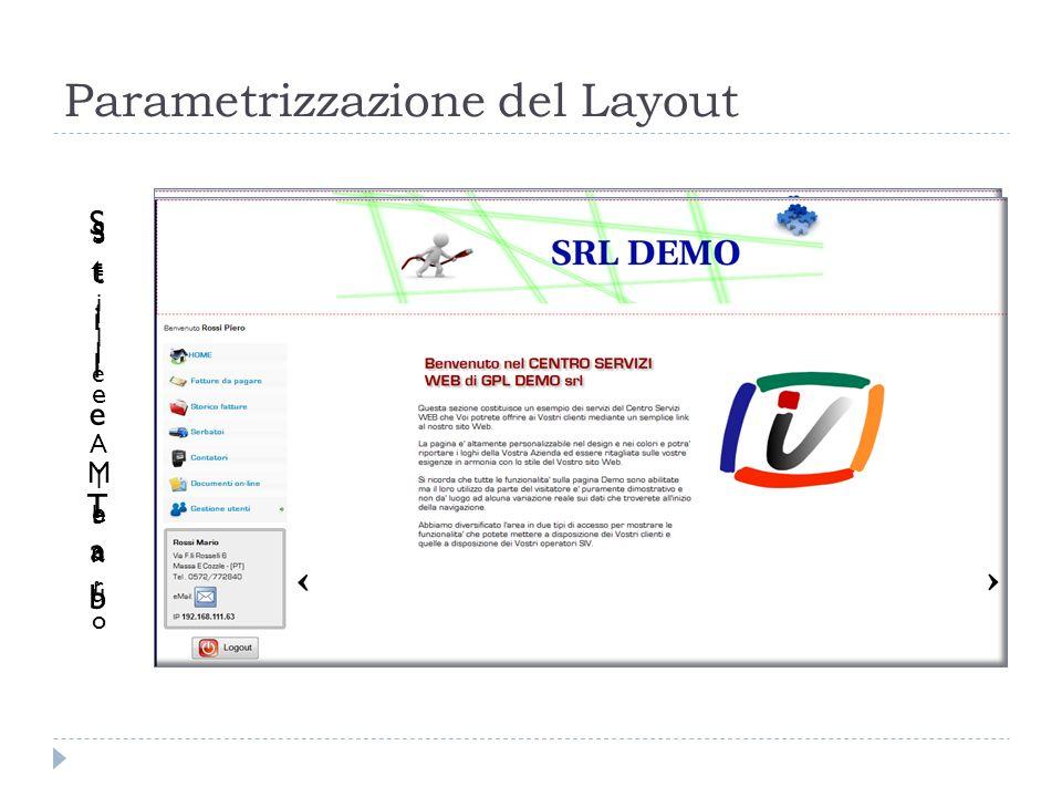 Parametrizzazione del Layout
