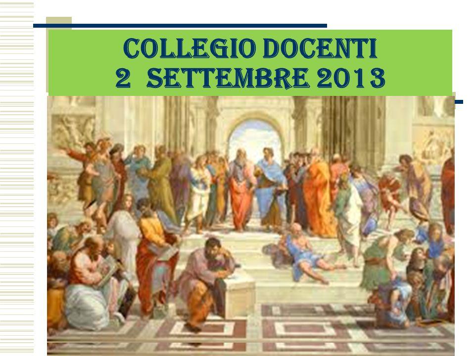 COLLEGIO DOCENTI 2 SETTEMBRE 2013