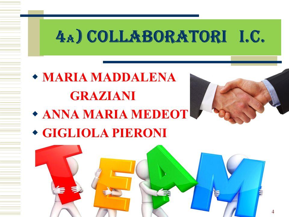 4a) Collaboratori I.C. MARIA MADDALENA GRAZIANI ANNA MARIA MEDEOT