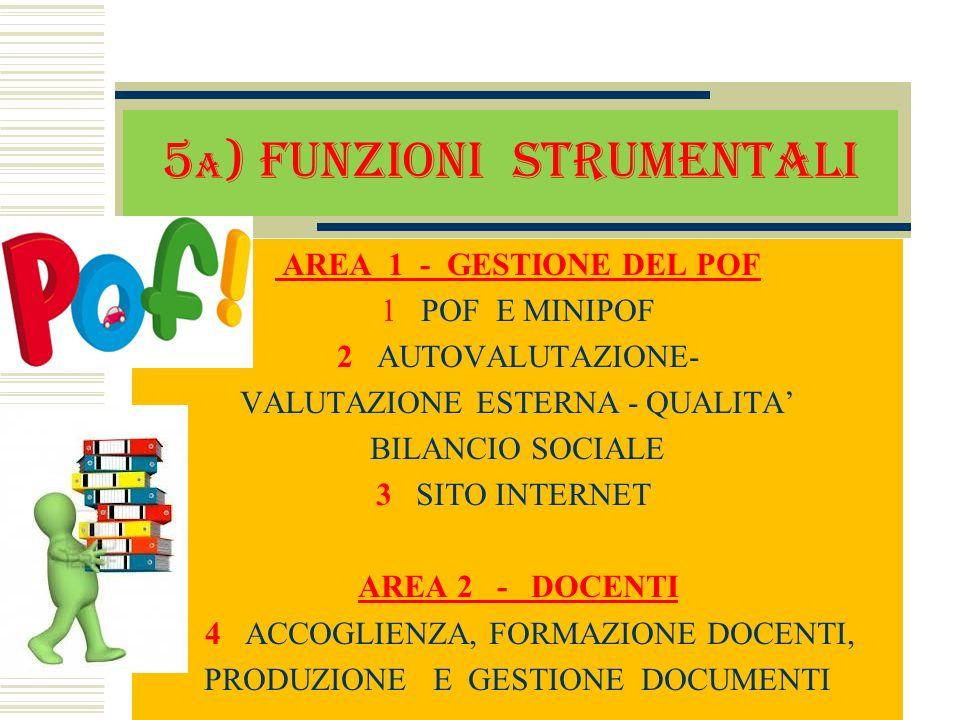 5a) Funzioni strumentali