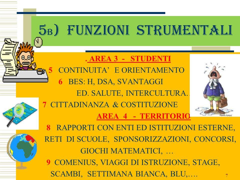 5b) Funzioni strumentali