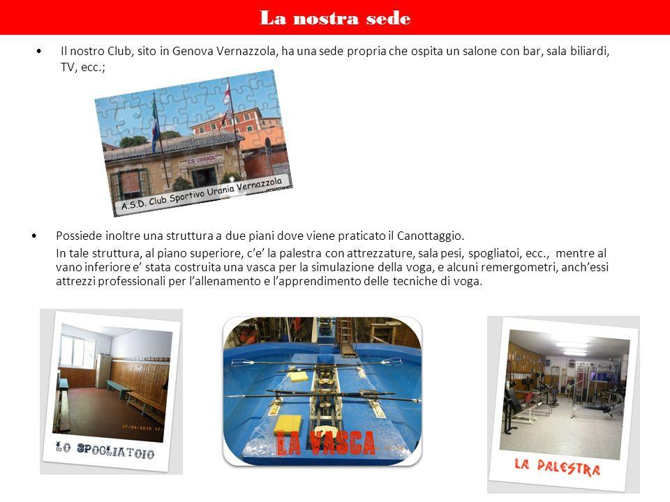 La nostra sede Il nostro Club, sito in Genova Vernazzola, ha una sede propria che ospita un salone con bar, sala biliardi, TV, ecc.;