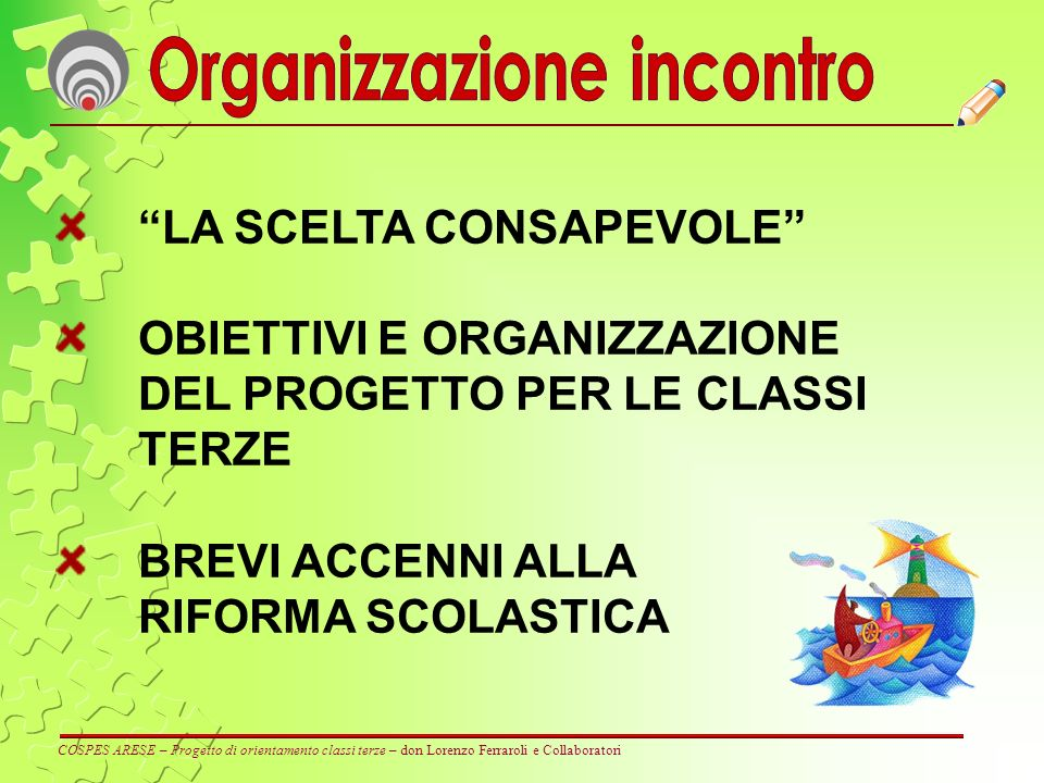 Organizzazione incontro