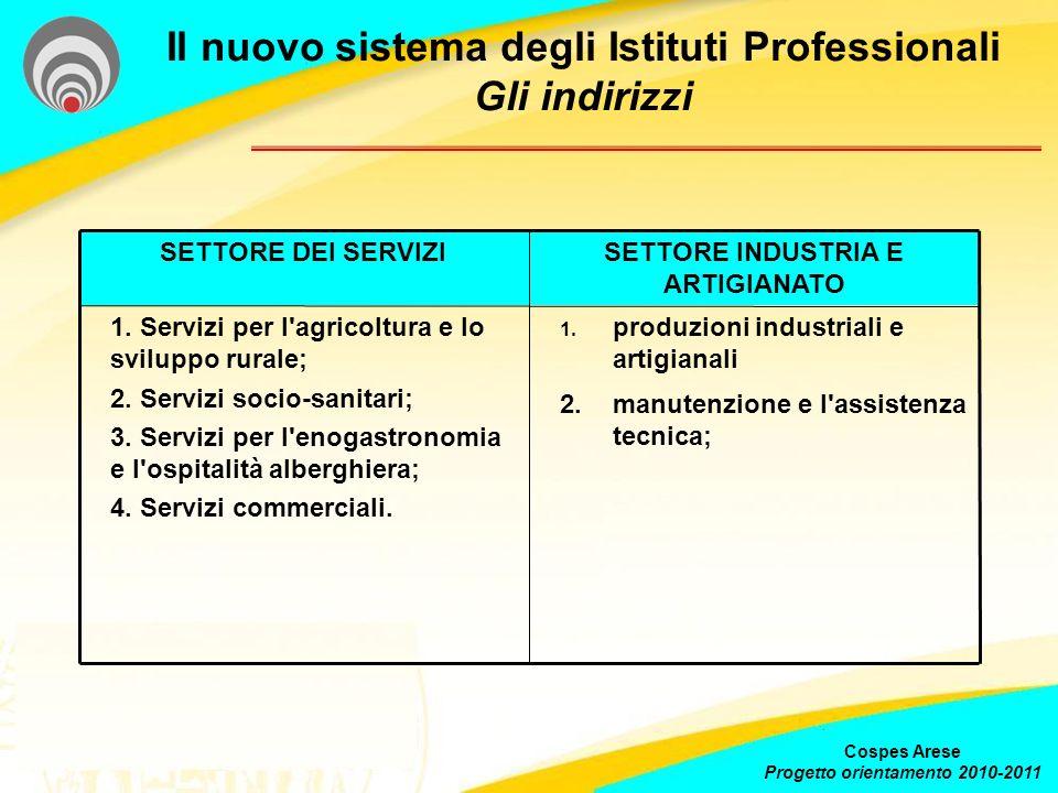 Il nuovo sistema degli Istituti Professionali