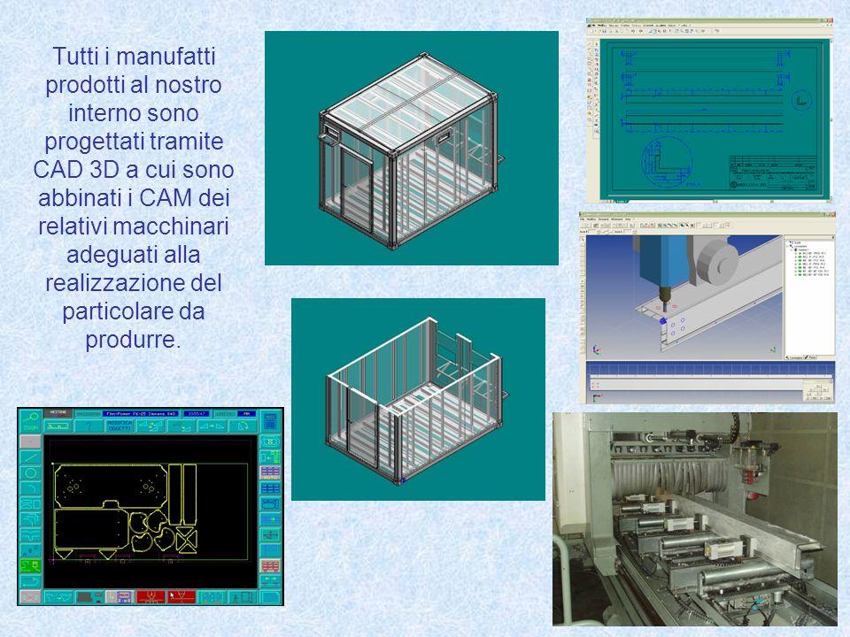 Tutti i manufatti prodotti al nostro interno sono progettati tramite CAD 3D a cui sono abbinati i CAM dei relativi macchinari adeguati alla realizzazione del particolare da produrre.