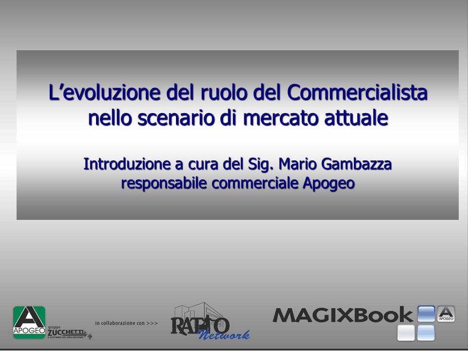 L'evoluzione del ruolo del Commercialista nello scenario di mercato attuale Introduzione a cura del Sig.