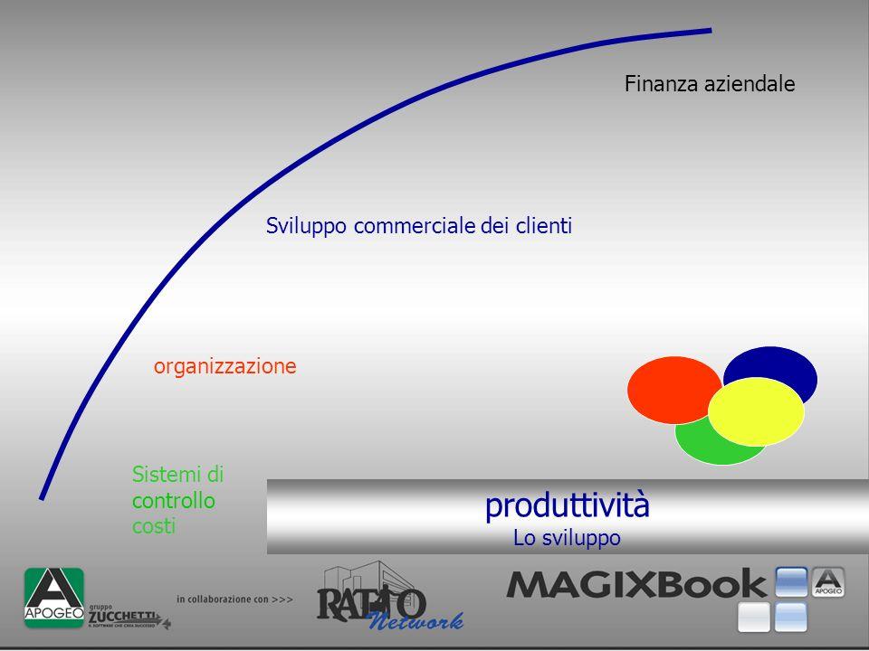 produttività Finanza aziendale Sviluppo commerciale dei clienti