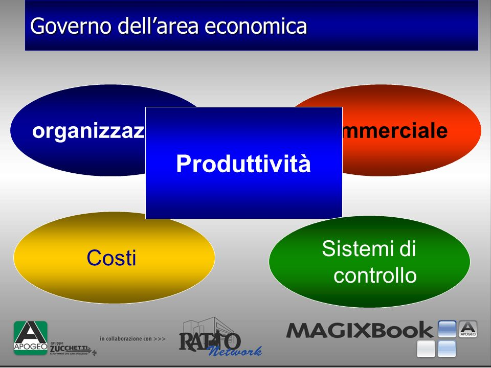 Produttività Governo dell'area economica organizzazione commerciale