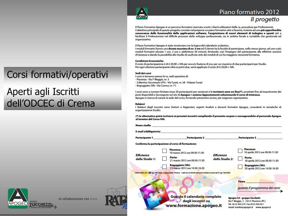 Corsi formativi/operativi