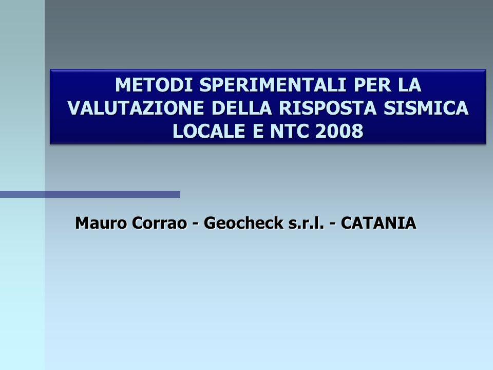 Mauro Corrao - Geocheck s.r.l. - CATANIA