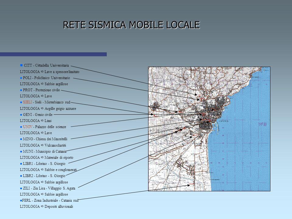 RETE SISMICA MOBILE LOCALE