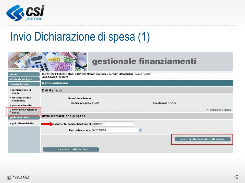 Invio Dichiarazione di spesa (1)