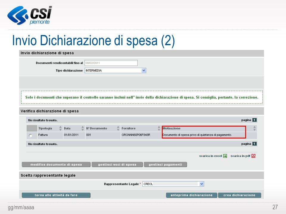 Invio Dichiarazione di spesa (2)
