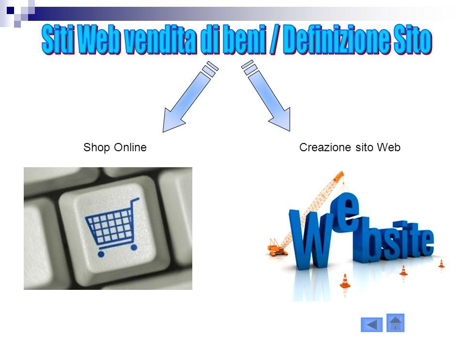 Siti Web vendita di beni / Definizione Sito