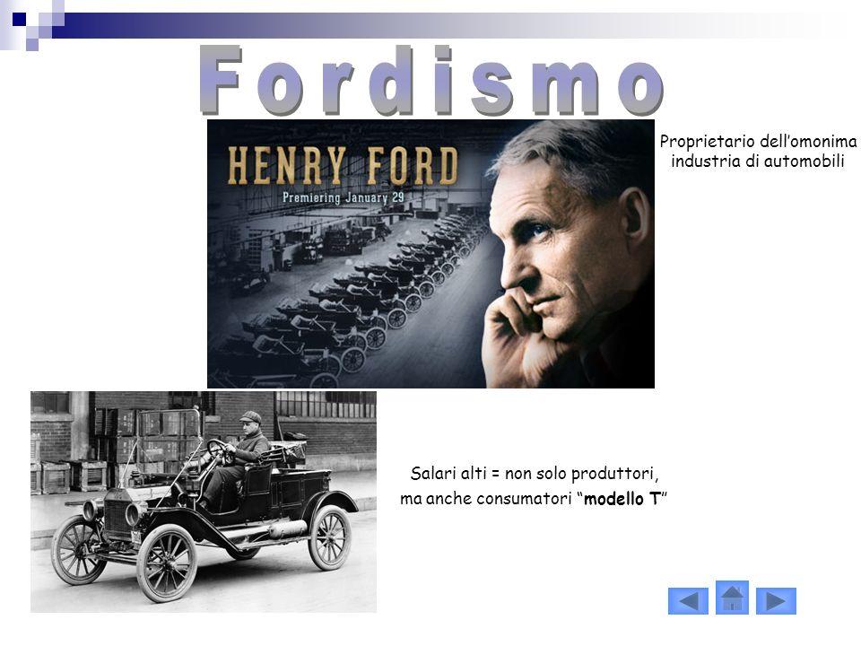 Fordismo Proprietario dell'omonima industria di automobili