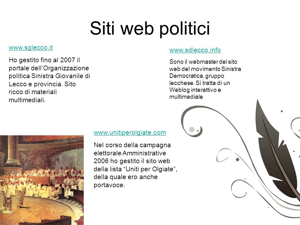 Siti web politici www.sglecco.it www.sdlecco.info
