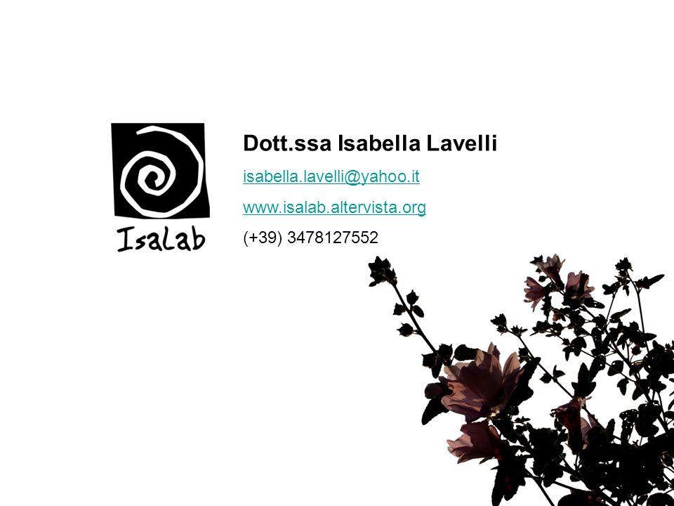 Dott.ssa Isabella Lavelli