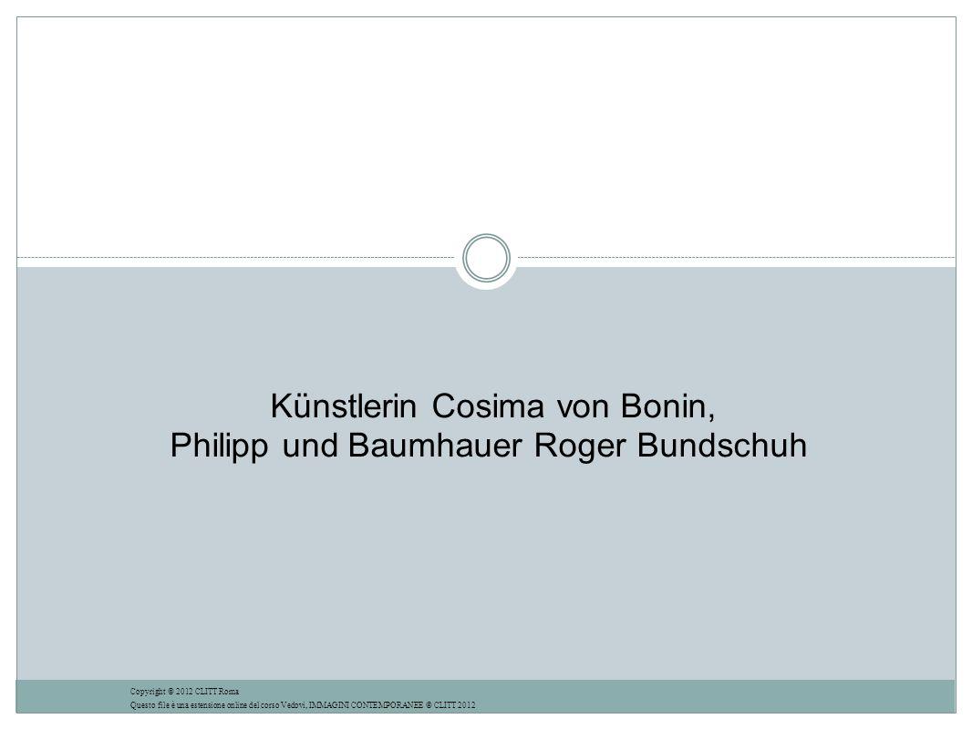 Künstlerin Cosima von Bonin, Philipp und Baumhauer Roger Bundschuh