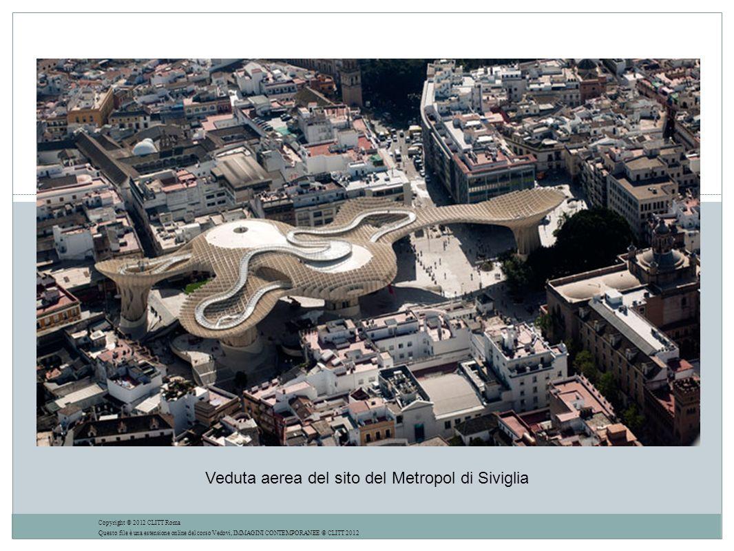 Veduta aerea del sito del Metropol di Siviglia