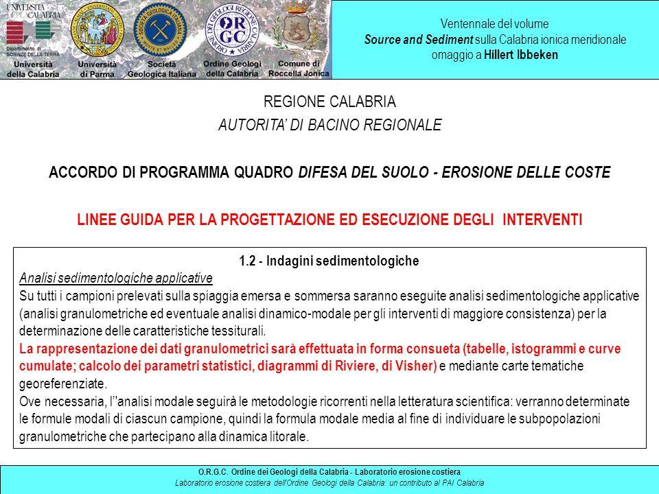 ACCORDO DI PROGRAMMA QUADRO DIFESA DEL SUOLO - EROSIONE DELLE COSTE