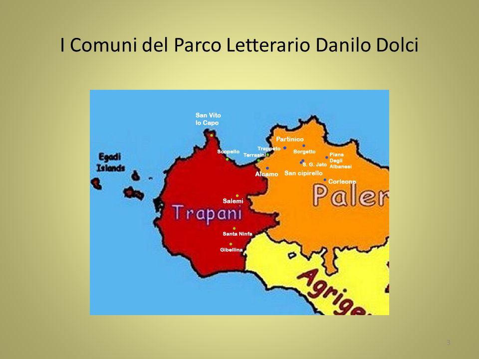 I Comuni del Parco Letterario Danilo Dolci