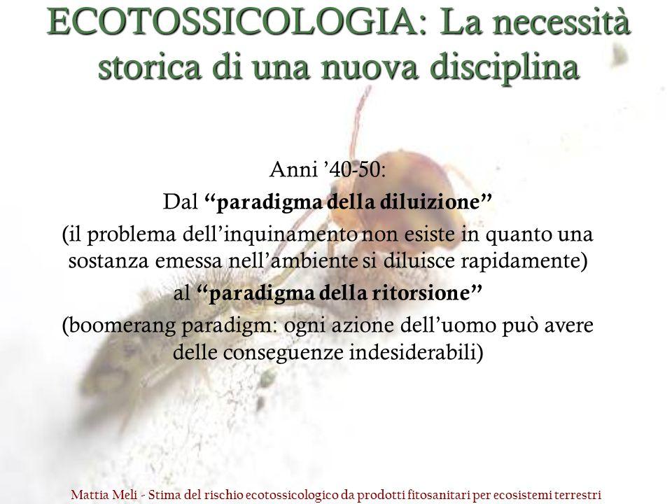 ECOTOSSICOLOGIA: La necessità storica di una nuova disciplina