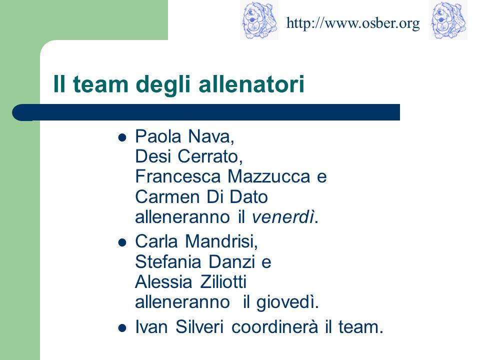 Il team degli allenatori