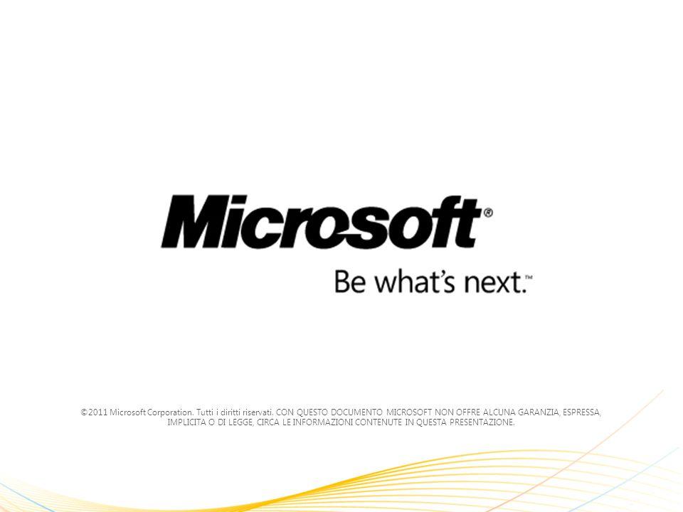 ©2011 Microsoft Corporation. Tutti i diritti riservati