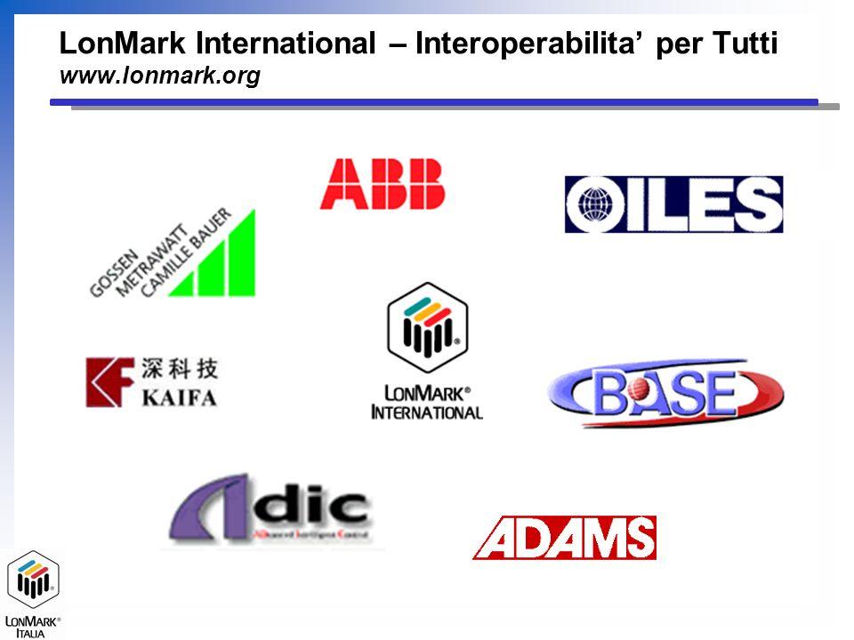 LonMark International – Interoperabilita' per Tutti www.lonmark.org