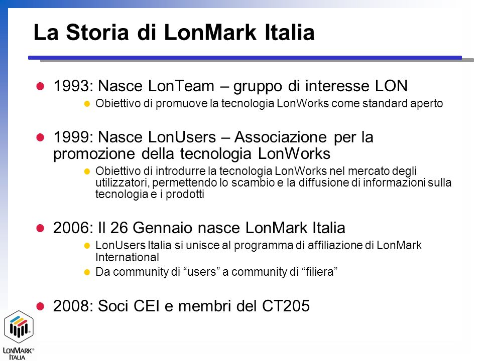 La Storia di LonMark Italia