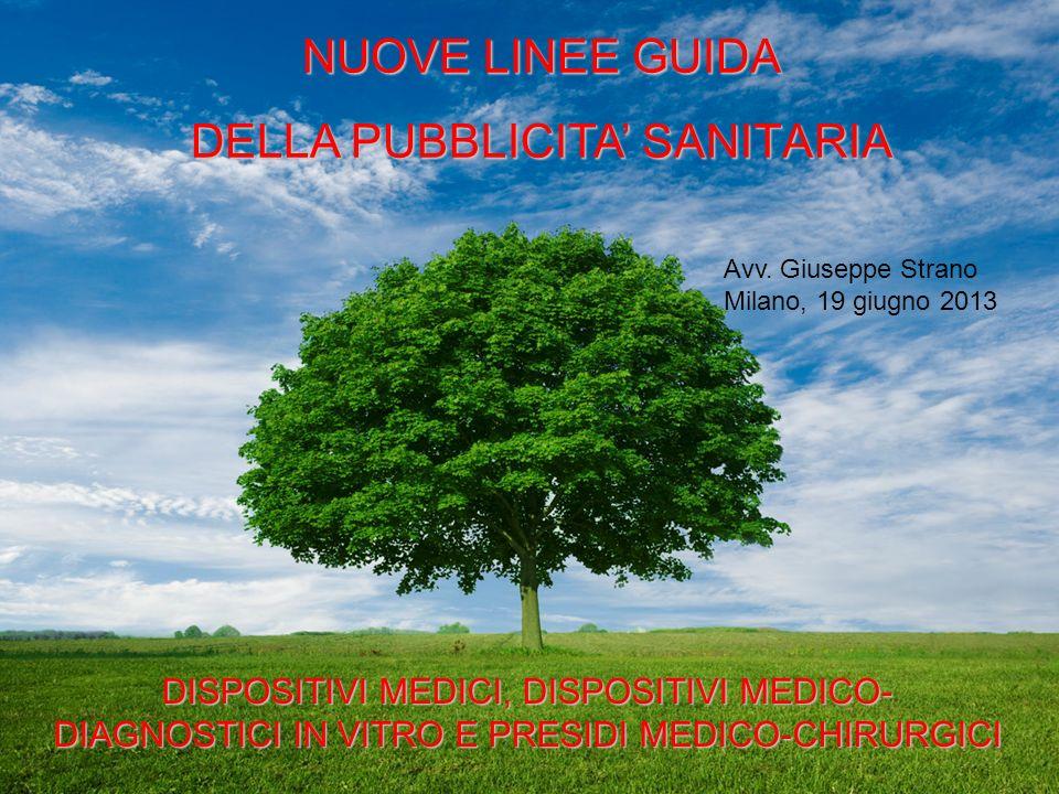 DELLA PUBBLICITA' SANITARIA