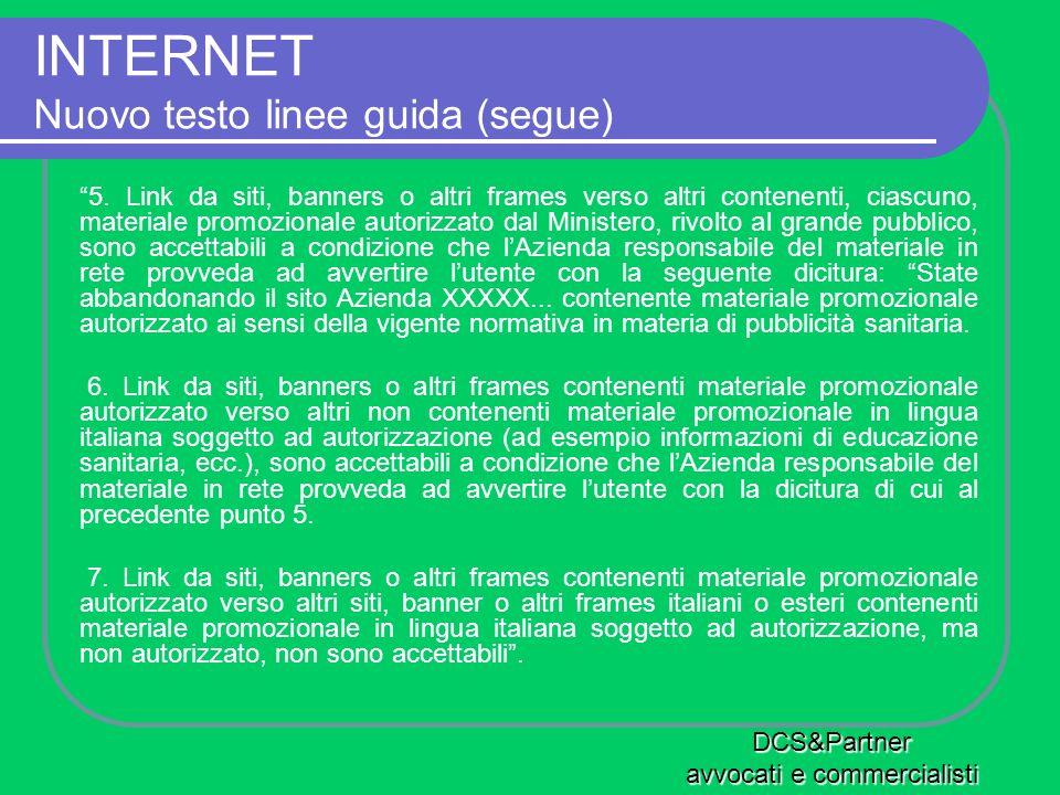 INTERNET Nuovo testo linee guida (segue)