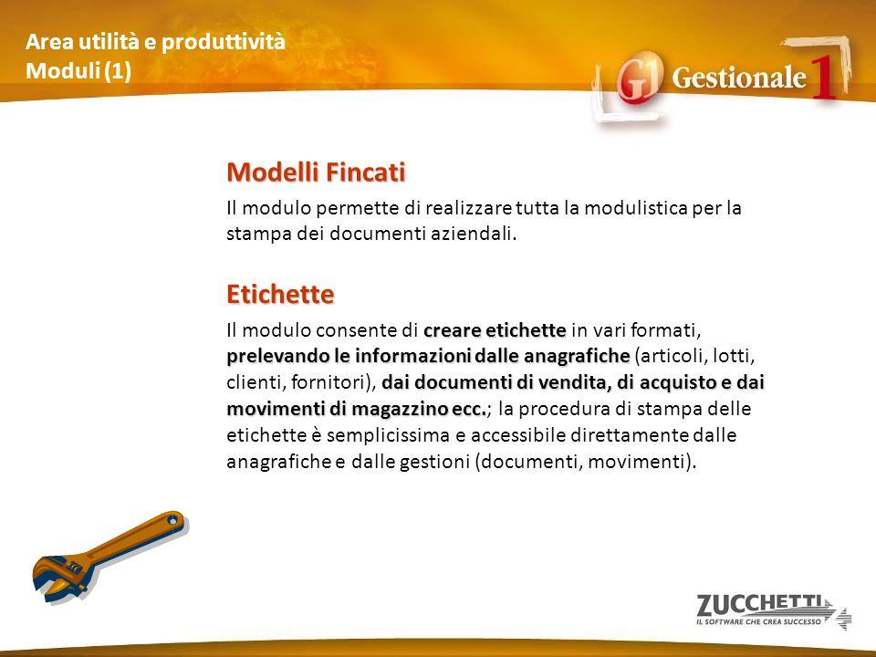 Area utilità e produttività Moduli (1)